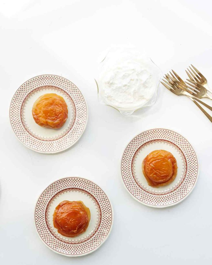 Mini Apricot Tartes Tatin - These beautiful single-serving tarts are a a mouthwatering twist on a French bistro classic.