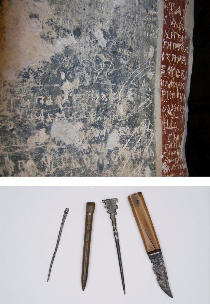 Выставка «Рисунки-граффити в новгородских памятниках XI – XIV вв.» в Никольском соборе