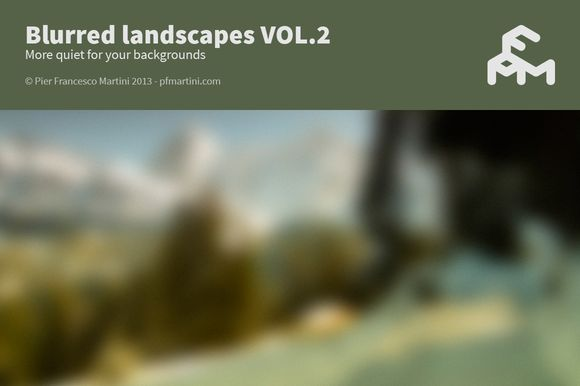 Check out Blurred landscapes VOL.2 by MARTINI Type Designer on Creative Market