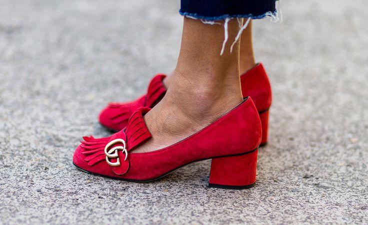 Auch Pumeinigermassrnps mit Midi-Heel, wie diese von Gucci gehören dazu.