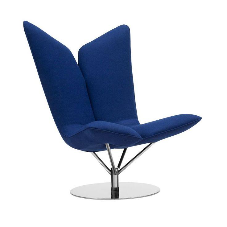 Fauteuil pivotant tissu Divina bleu Klein ANGEL Softline