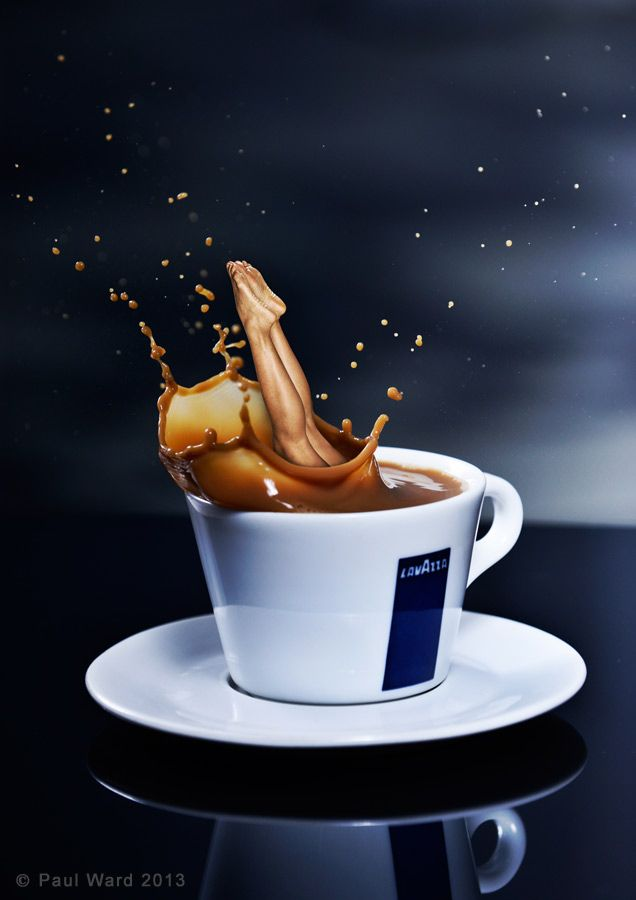 Lavazza coffee concept image for DSLR photography magazine  Beauty  Coffee latte Coffee beans