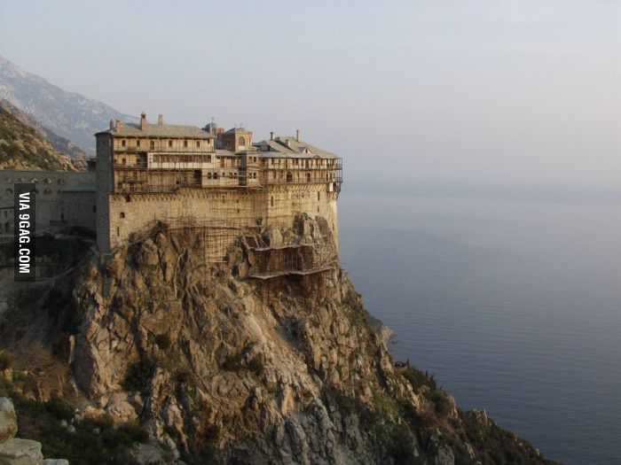 Mount Athos in Greece