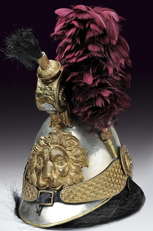 A cuirasser's helmet, Belgium, ca. 19th century.