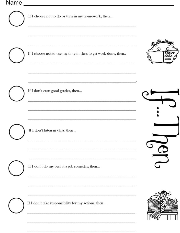 Printables Choices And Consequences Worksheet 1000 images about parenting on pinterest my children worksheet for if then understanding consequencesacademic domain lesson