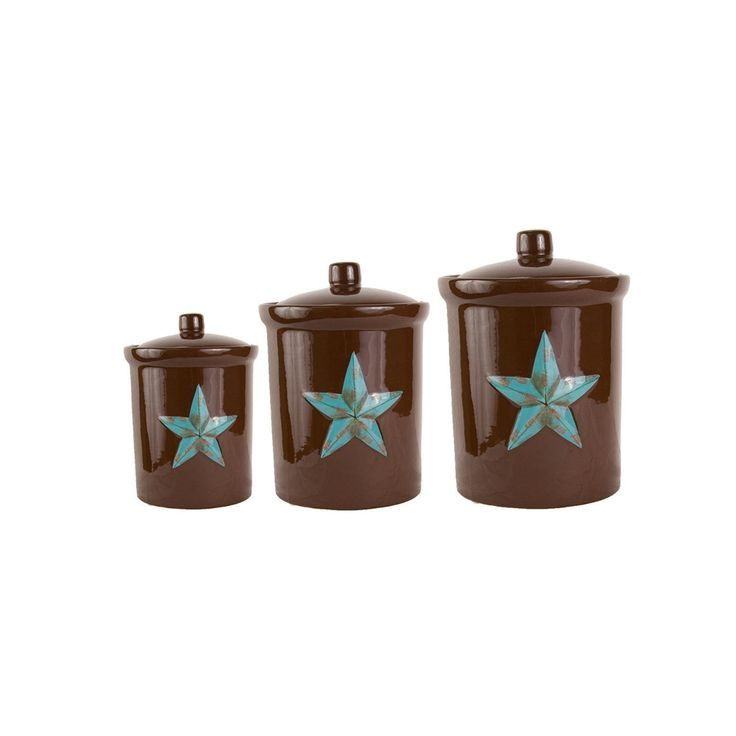 Western Kitchen Decor Sets: 10 Best COUNTRY & WESTERN KITCHEN CANISTER SETS Images On