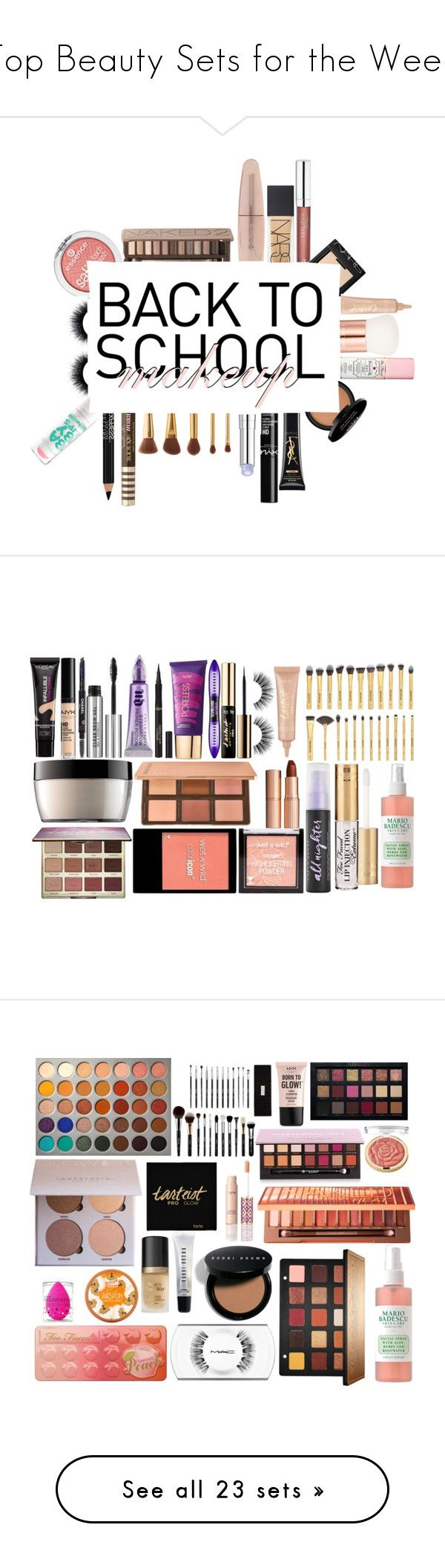 """""""Top Beauty Sets for the Week"""" by polyvore ❤ liked on Polyvore featuring beauty, Forever 21, Urban Decay, NARS Cosmetics, Essence, tarte, Maybelline, Too Faced Cosmetics, Lancôme and Christian Dior"""