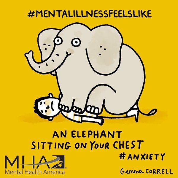 #mentalillnessfeelslike ... for Mental Health America #MentalHealthAwarenessMonth #MHMonth2016
