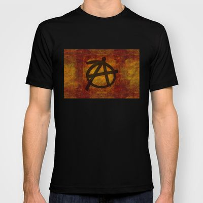 Distressed Anarchy T-shirtDistressed Anarchy Art Print by Bruce Stanfield ed, war, art, sign, dark, icon, wall, free, anti, punk, rough, chaos, black, shape, youth, symbol, design, grungy, sketch, grunge, culture, liberty, graphic, freedom, drawing, texture, anarchy, politics, graffiti, movement, anarchist, anarchism, different, political, government, revolution, background, illustration, sub culture, establishment, anti establishment #Anarchy