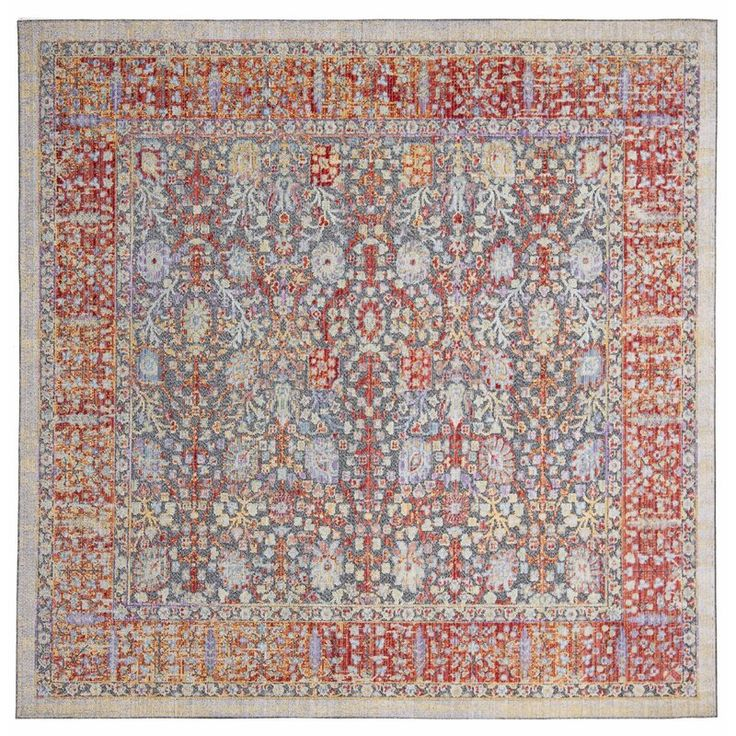 World Menagerie Younes Oriental Red Beige Area Rug Square Area Rugs Blue Area Rugs Beige Area Rugs