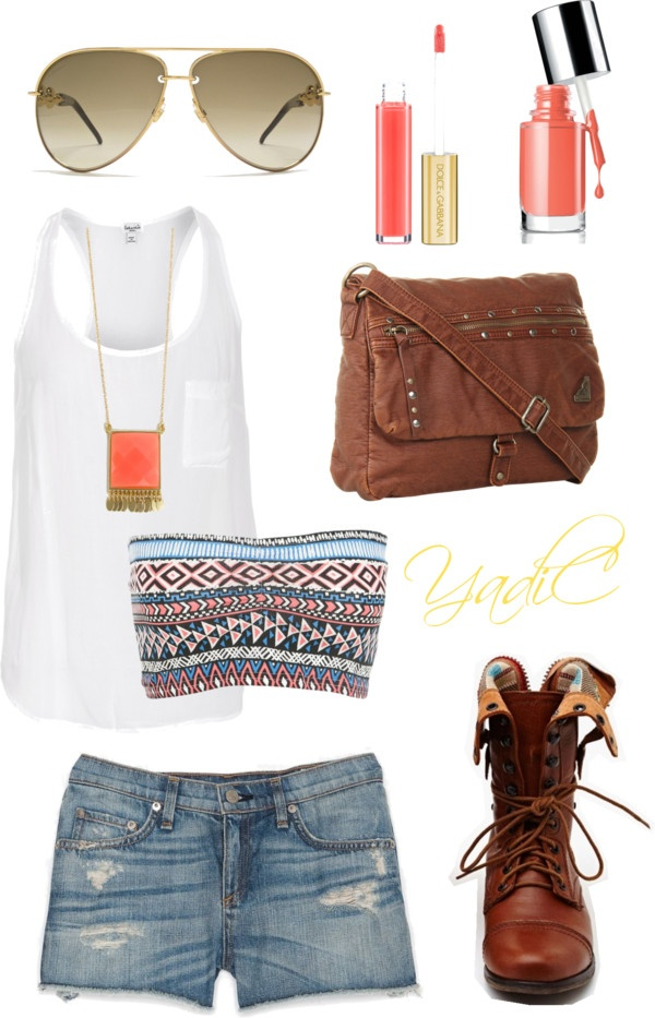 """""""Combat boots in the summer."""" by yadi-aries on Polyvore"""