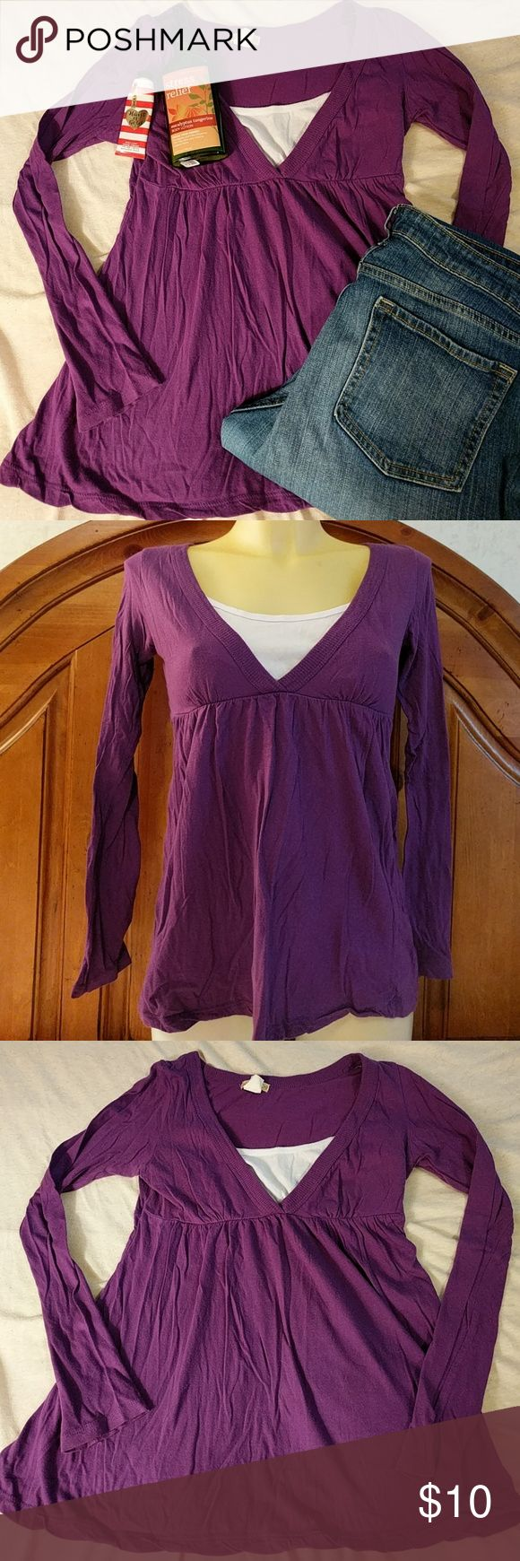 🐨Purple Babydoll Top ✔️Z. Ro brand ✔️Size S ✔️White undershirt is sewn in ✔️Like new ✔️Empire waist - elastic under bust ✔️Flowy bottom ✔️💯% Cotton  ☀️Bust - 15 inches ☀️Length - 23 inches ☀️Sleeve - 23 inches ☀️Waist - 22 inches  🚭 Smoke free but pet friendly home 🐕🐈 👍 Open to reasonable offers ❗ ❌Offers of 30% or more below listed price will not be accepted Z. Ro Tops Blouses
