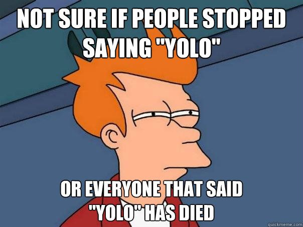not everyone like me but not everyone matters | ... Fry - not sure if people stopped saying yolo or everyone that sa