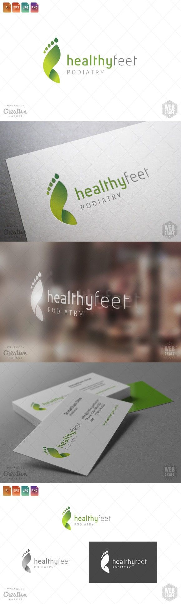 Podiatry Logo Template 12. Logo Templates. $29.00