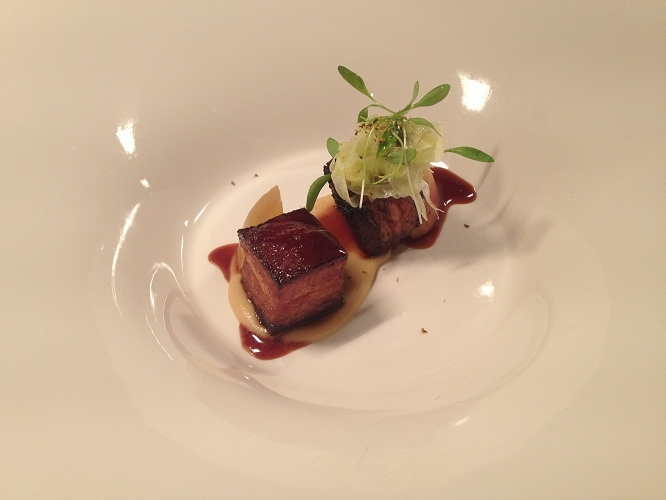 Slow cooked bangalow pork belly