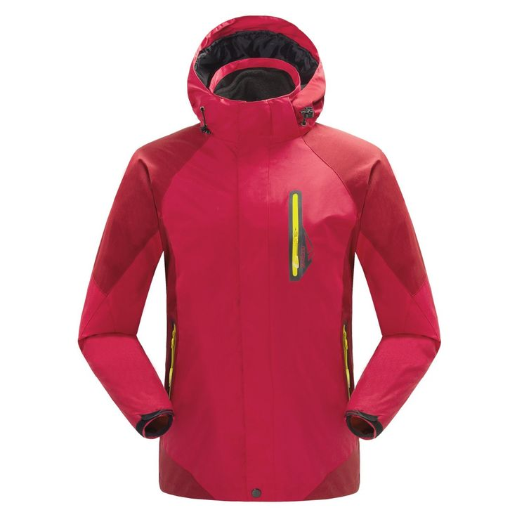 mansmoer Men's 3in1 Waterproof Windproof Outdoor Sports Fleece Lined Jacket Coat (Large, Red). New Men's Soft Shell 3in1 Windproof waterproof Outdoor Sport Jacket Hiking Camping Coat Windbreaker. Breathable mesh lined; Waterproof,breathable,warm,frost prevention; Warm black fleece liner. Three adhesive technology to prevent water leaks; Zip off hood with draw cord system. Adjustable hem,can help you prevent wind; Suitable for Climbing/Hiking/Camping/Fishing/skiing/snowboard and any other...