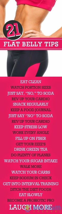 Flat belly tips.