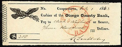 Abner Doubleday Signed Bank Documents Including 1843 Check