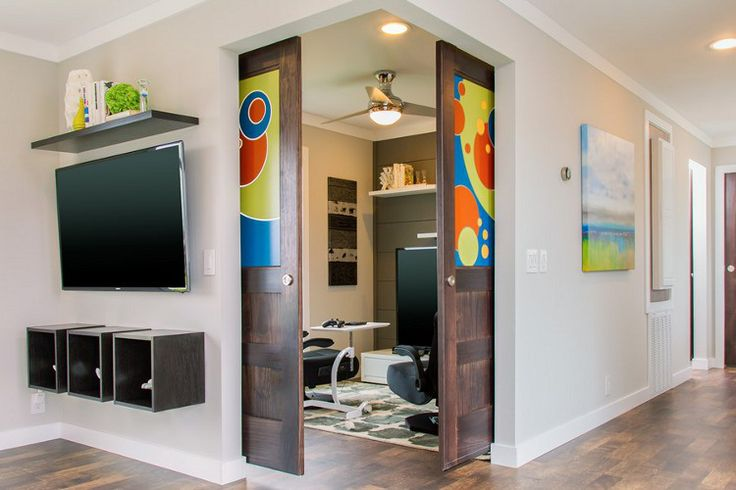 Corner Barn Doors And Flex Room Home Office Niche