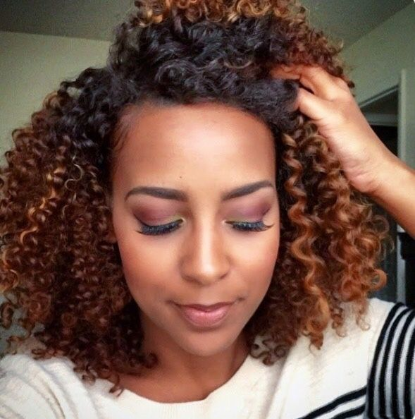 Two Tones Dyed with Natural Curly Hair | Hair Colors | Natural hair ...