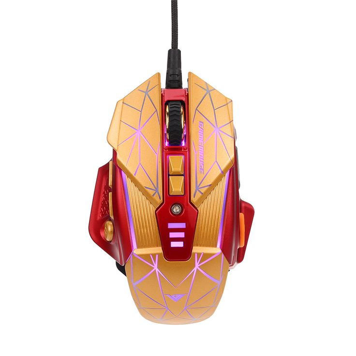 Rajfoo Esport Gaming Mouse Ergonomic Macro Programmable 8D Buttons Mice 800-4000DPI Breathing LED Light USB Wired for Pro Gamers Sales Online - Tomtop