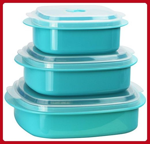 Calypso Basics by Reston Lloyd 6-Piece Microwave Cookware, Steamer and Storage Set, Turquoise - Kitchen gadgets (*Amazon Partner-Link)