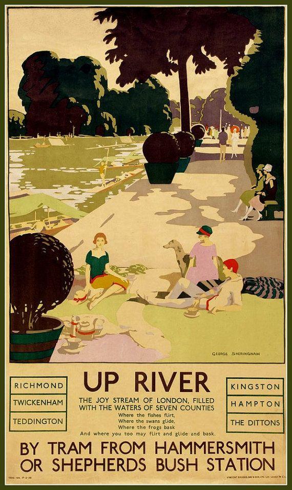 Art Print Upriver 1920s Poster Print 8