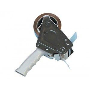 Dispensador de plástico con cuchilla de acero, para rollos de cinta de embalaje de 66 metros x 50 mm. muy resistente para un uso continuo