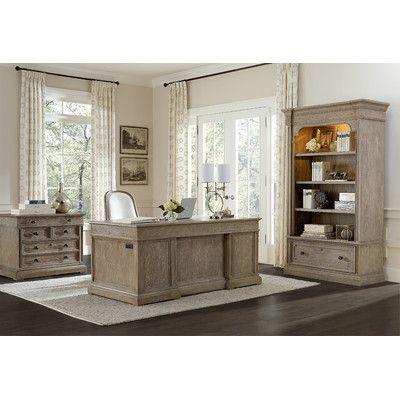 stanley furniture wethersfield estate 4 piece standard desk office suite