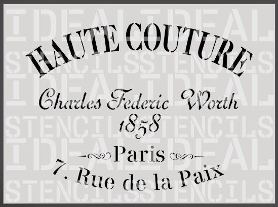 pochoir, français, shabby chic vintage, Haute Couture, pochoir meubles, peinture murale art artisanat stencil
