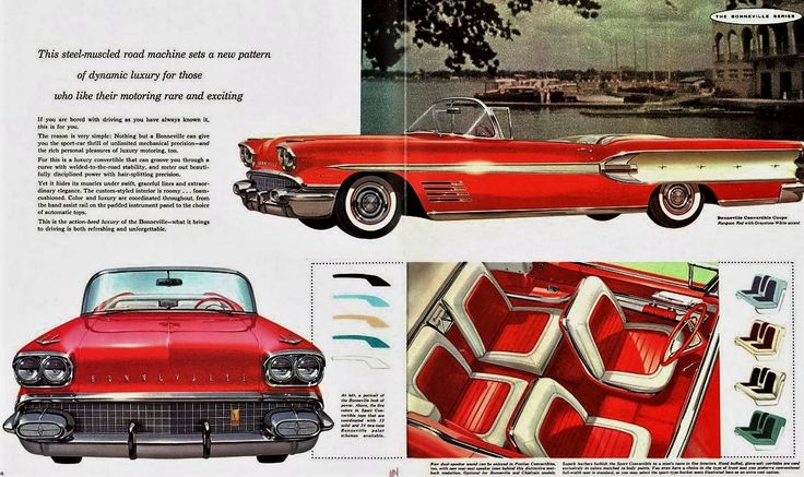 Dépliant Pontiac Bonneville 1958 - Collectible Automobile Magazine.