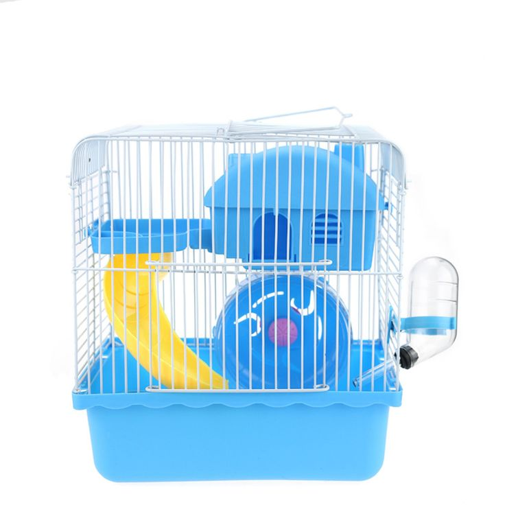 Check Discount 2 Floors Storey Luxury Pet Hamster Cage Portable Small Pet Cage Nest House With Slide Disk Spinning Bottle Mini Hamster Supplies #Floors #Storey #Luxury #Hamster #Cage #Portable #Small #Nest #House #With #Slide #Disk #Spinning #Bottle #Mini #Supplies