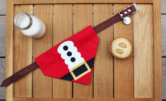 Bandana del perro de Navidad Navidad traje de por BourneWildPetWear