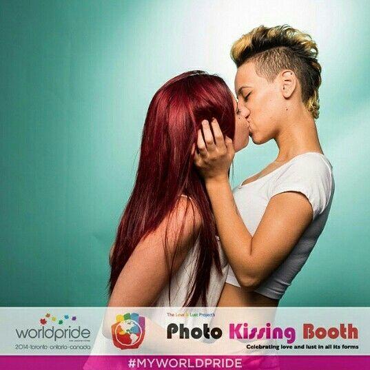 Love has no limits. @nicoleshearss  #worldpride2014 #worldpride #toronto #worldpridetoronto #wpto2014 wp2014 #lesbian #couple #loveislove #happypride #kissingbooth #quote #world #pride #lgbt