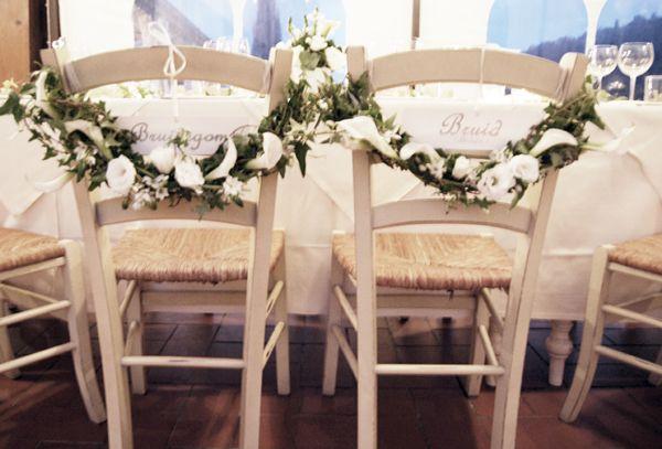 Bloemen decoratie huwelijk