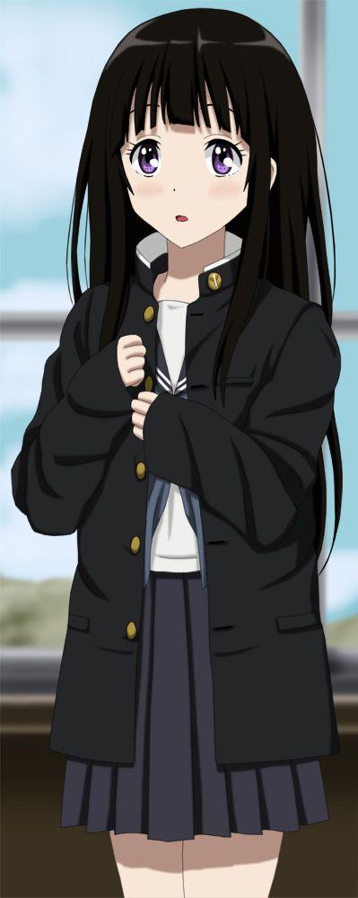 [Kawaii]Sorry Oreki-san I was just curious to know how it felt to wear it[Hyouka](Daily purple eyes #286)
