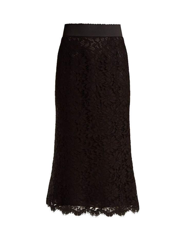 Click here to buy Dolce & Gabbana Cordonetto-lace pencil skirt at MATCHESFASHION.COM