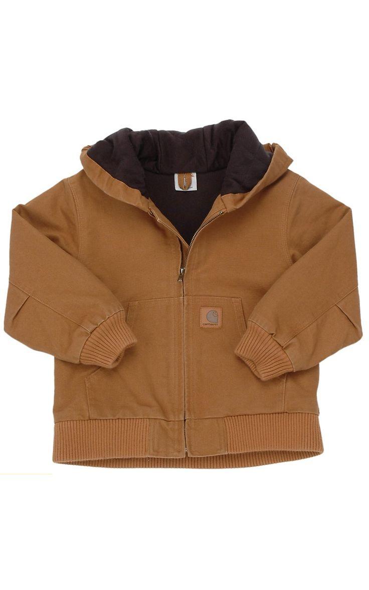 Carhartt Boys' Brown Active Jacket- Ty size 5-6 tan or dark brown