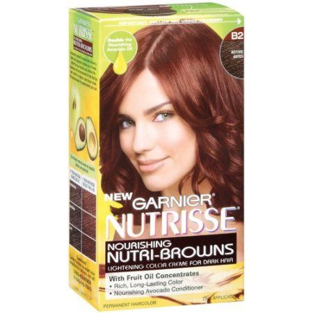 garnier hair color for brunettes  Shop nutrisse hair color roasted coffee reddish brown from