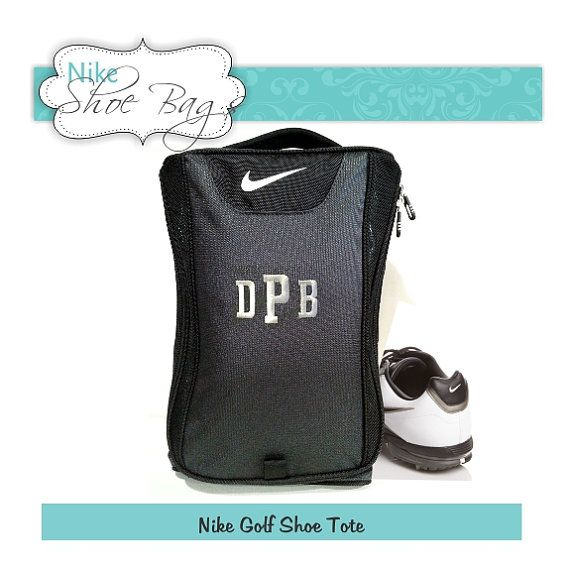 Qty 3 Shoe Bags, Nike brand. A great gift for your groomsmen or groom, this golf shoe bag will be personalized with the embroidered initial of your