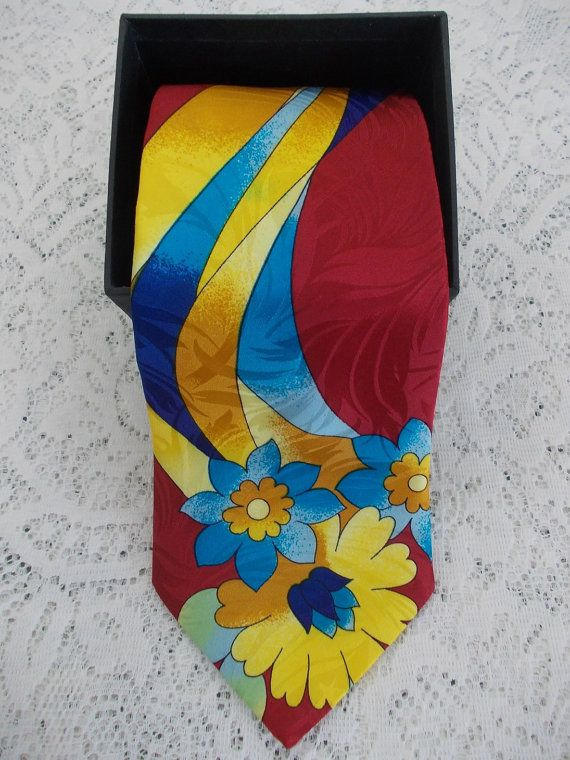 Giorgio Redaelli 100% Silk Tie Bright by DaysofYoreTreasures