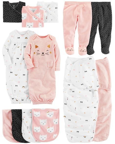 7a5aa746e 3-Pack Side-Snap Bodysuits | Matthyew&Rileigh | Carters baby girl ...