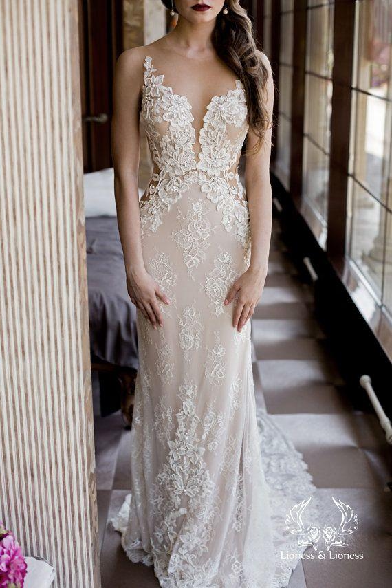 Wedding dress lace wedding dress unique wedding by DressesLioness