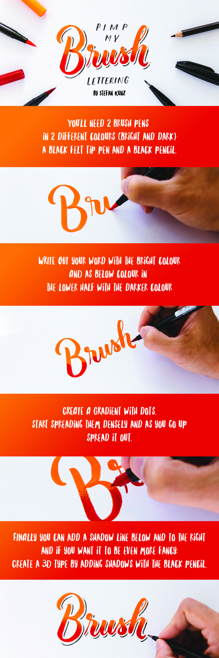 Improve your Brush Lettering/Calligraphy with these easy 3 steps.