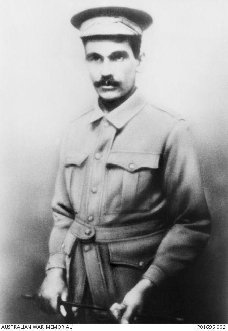 WWI: Studio portrait of an Aboriginal serviceman, 5459 Corporal (Cpl) Harry Thorpe MM