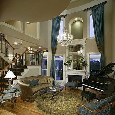 amusing two story living room | 74 best window treatments images on Pinterest | Window ...
