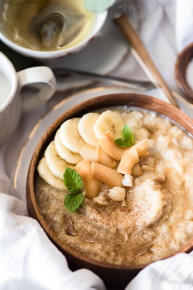This grainless & dairy free version of banana bread oatmeal from http://meatified.com is minimally sweetened, full of warm spices and perfect morning comfort food.