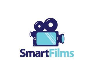 Smart Films Logo design - Logo design of a smartphone shaped like a movie camera.  Price $299.00