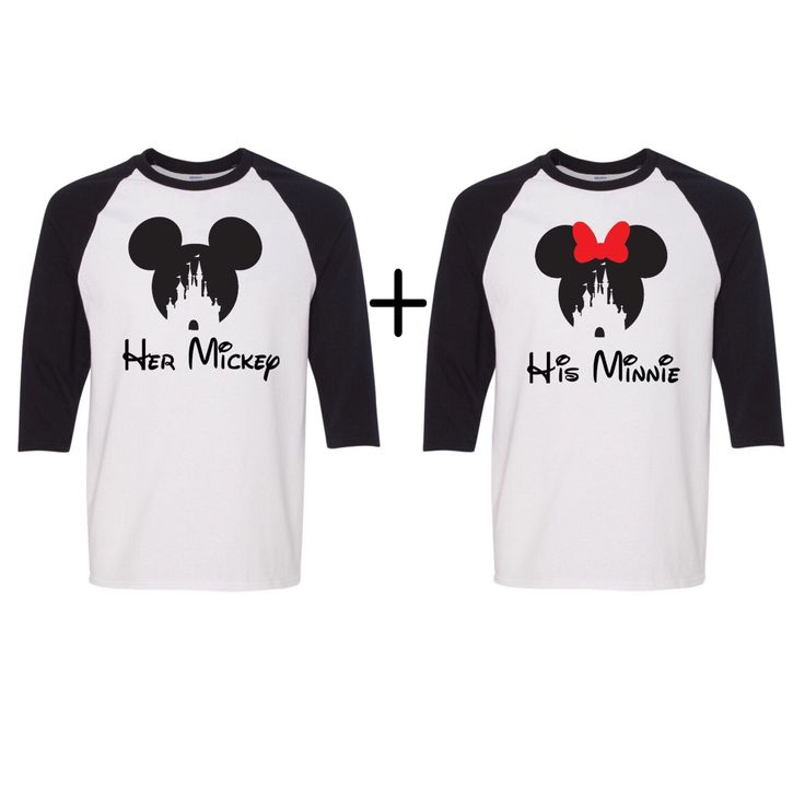 Couples UNISEX Baseball tees, Disney shirts, Her Mickey, His minnie, Disney couples shirts, Disney inspired shirts, Disney christmas shirts by JSAPPARELLB on Etsy https://www.etsy.com/listing/471590750/couples-unisex-baseball-tees-disney