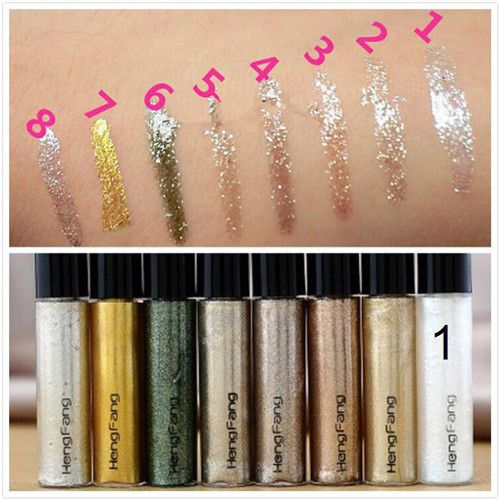 Profesional Cosméticos Bronceador Oro Brillante Sombra de Ojos 7 Colores de Sombra de Ojos Shimmer Glitter Brillante Maquillaje maquiagem Envío Gratis
